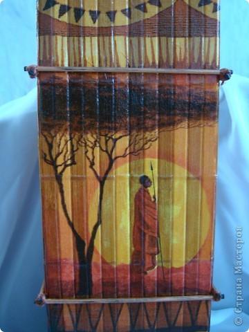 В дополнение к ранее сделанным панно, появилась вазочка. фото 12