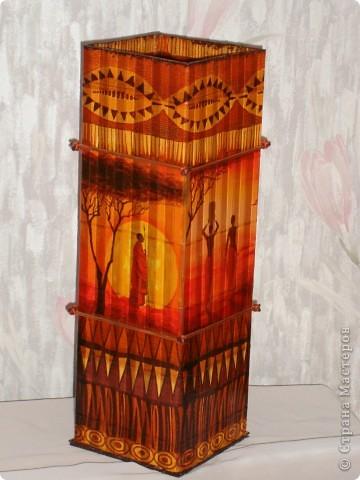 В дополнение к ранее сделанным панно, появилась вазочка. фото 9