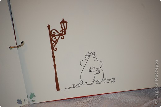 Это обложка.Она не закончена т.к. заказчица оставила за собой право прикрепить фигурки муми троллей! фото 8