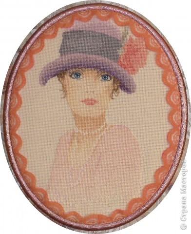 """СЕРИЯ """"Элегантная  Виктория"""" вышивка на равномерном канве окрашена в ручную, с использованием бисера, лент и металлических нитей. фото 5"""