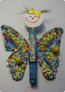 Вот такую бабочку мы смастерили с дочкой. фото 5