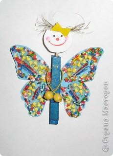 Вот такую бабочку мы смастерили с дочкой. фото 1