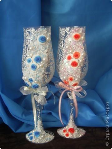 Свадебные бокалы фото 2