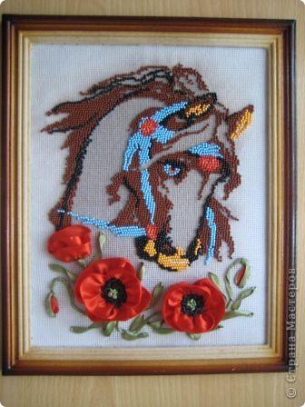 рисунок Вышивка лошадка с