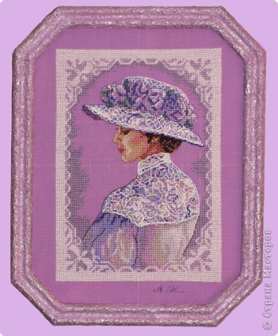 """СЕРИЯ """"Элегантная  Виктория"""" вышивка на равномерном канве окрашена в ручную, с использованием бисера, лент и металлических нитей. фото 4"""