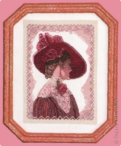 """СЕРИЯ """"Элегантная  Виктория"""" вышивка на равномерном канве окрашена в ручную, с использованием бисера, лент и металлических нитей. фото 3"""