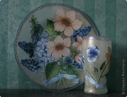 """Была простая прозрачная ваза на работе под сухоцветы. Давно на нее """"зуб точила"""" фото 2"""