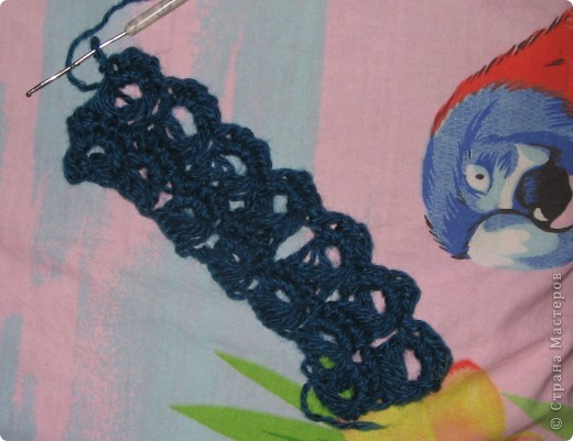 """Сегодня освоил (новую для меня) технику - Брумстик. Это перуанское вязание крючком. Название такое смешное!:)) Брумстик :) В ИНТЕРНЕТЕ МНОГО ФОТОК С ИЗДЕЛИЯМИ. Достаточно набрать """" брумстик """".  фото 6"""