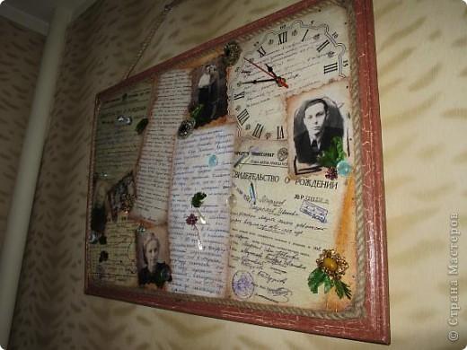 Нашла старую отцовскую папку с документами. Сокровища!!!Сначала хотела их все прямо на стенку в кухне наклеить(обои надо менять), но здравый смысл в лице моей старшей дочери победил. Вот, родились часы. фото 21
