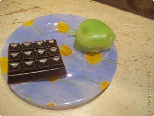 """Не люблю 1апреля, но раз уж День Дурака, то и завтрак должен быть дурацкий. Мыло с глицерином, краситель натуральный пищевой, отдушек не добавляла (может, кто видел отдушку """"колбаса подкопченая""""?) фото 4"""