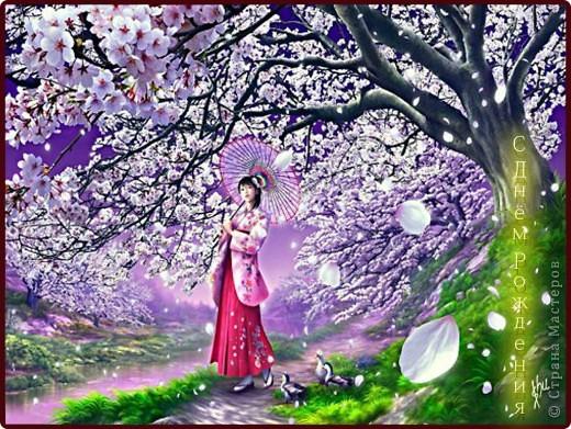 """Фото-панно """"Сакура цветет!Пришло весны очарование!"""" ...""""Печальна ли та Что восходящему солнцу во след Под сакурой нежно мечтает""""... Сакура (это вид вишни) прекрасна, многообразна и очень почитаема в Японии. Сделала небольшой МК (впервые) по изготовлению цветочков сакуры.Прошу прощения, если что не так. фото 24"""