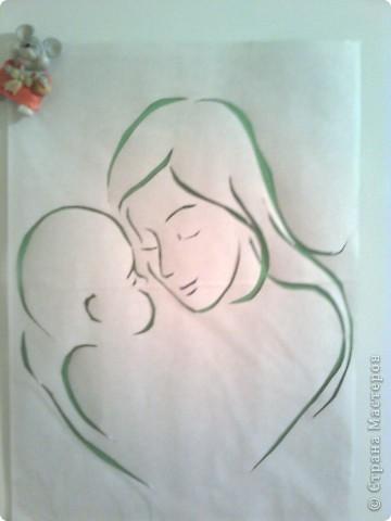 Открытка ко дню мамы поэтапно