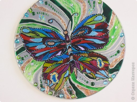 Зеркальное панно Бабочка и Солнышко фото 1