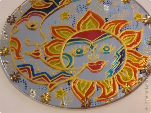 Зеркальное панно Бабочка и Солнышко фото 4