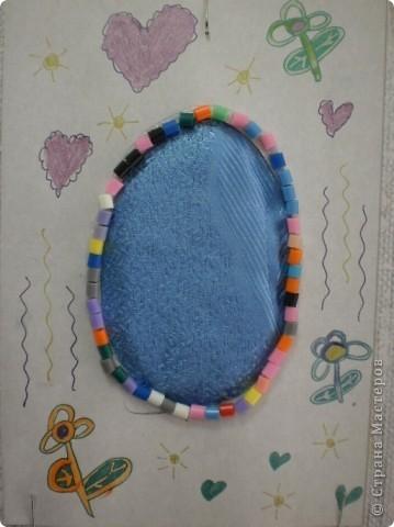 основа- пластиковое яйцо, обклеено туалетной бумагой, покрашено гуашью и покрыто лаком фото 8