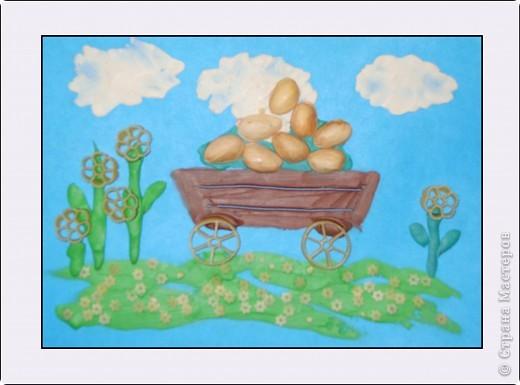"""Коллективная работа учеников прогимназии """"ПЕРЕСВЕТ"""", 40*50, педагог Давыдова И.В. 1-4 классы. Эту работу мои ученики подарили  на пасху Владыке балтийскому Серафиму. фото 11"""