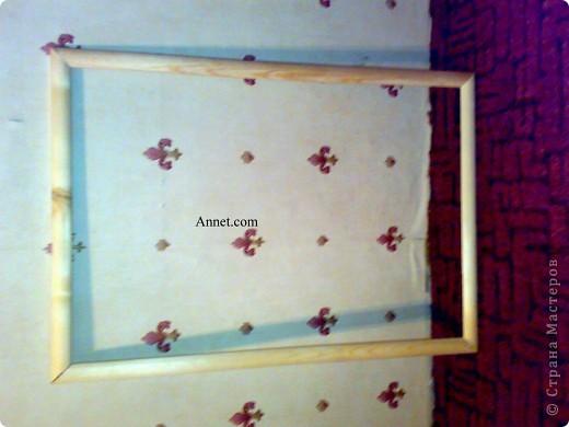 Друг привез картину из Тайланда .. но наши рамки  не подходили по размеру.. И я вызвалась помочь)!А вот и конечный результат! Я конечно извиняюсь за качество фото.. Но это мой первый мастер-класс)) фото 2