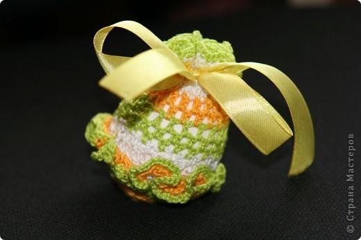 """Обвязанные крючком вареные яйца. Нитки """"Ирис"""".  (прошлгодние подарки) фото 5"""