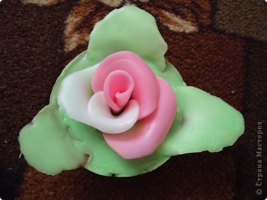Бело-розовая роза) фото 1