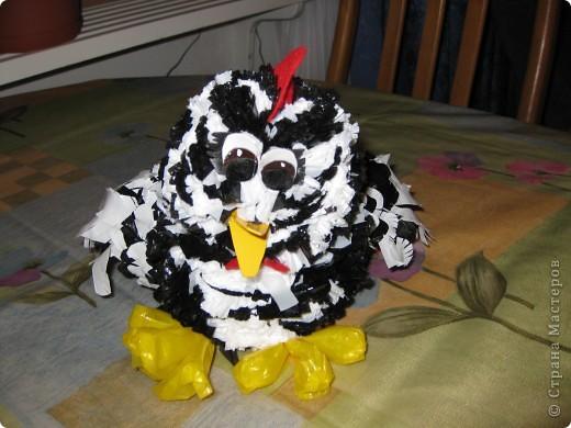 курочка-рябушка родилась из мусорных пакетов...Спасибо за идею Людмиле Васиной! фото 1
