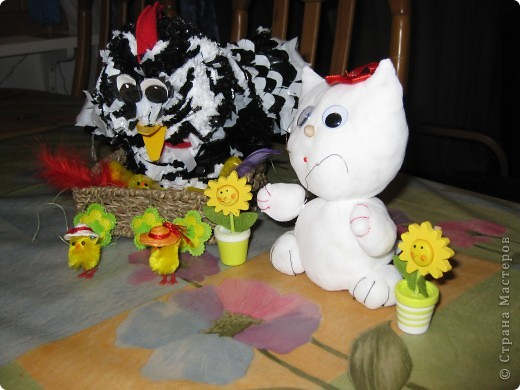 курочка-рябушка родилась из мусорных пакетов...Спасибо за идею Людмиле Васиной! фото 7