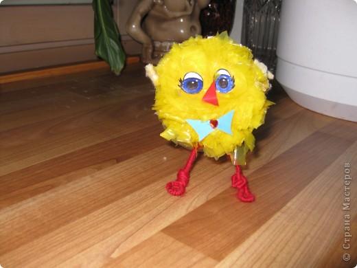 у нас сегодня прибавление в семействе-цыплята(не смогла пройти мимо желтеньких мусорных пакетиков) фото 3