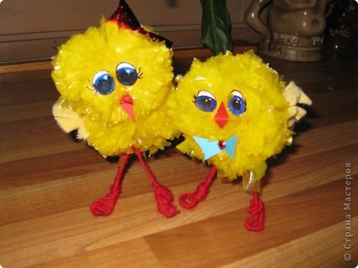 у нас сегодня прибавление в семействе-цыплята(не смогла пройти мимо желтеньких мусорных пакетиков) фото 4