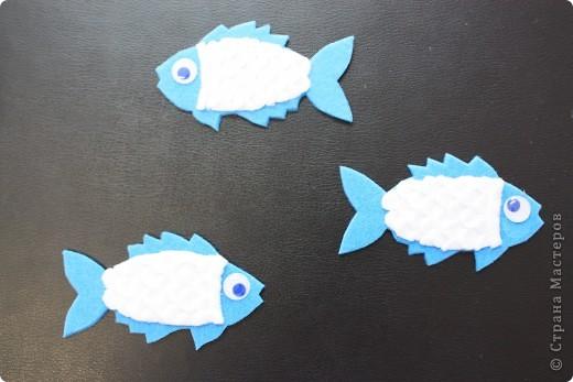 """Магниты """"Рыбки"""" из фетра и флиса мы с ребятами делали на праздник народов Севера для ярмарки-распродажи. Может кому-нибудь пригодится эта идея. фото 1"""