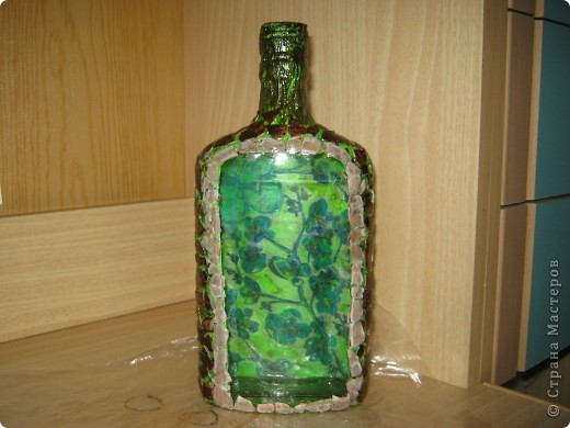 Моя самая первая вазочка в технике декупаж фото 2
