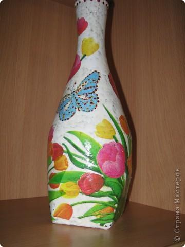 Моя самая первая вазочка в технике декупаж фото 6