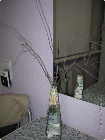 Моя самая первая вазочка в технике декупаж фото 7