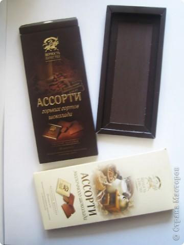 Композиции сделаны в коробочках от шоколада. фото 2
