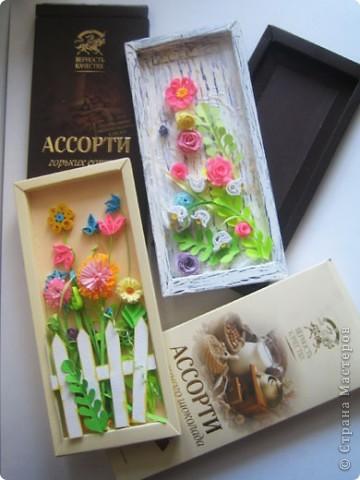Композиции сделаны в коробочках от шоколада. фото 9