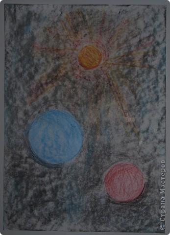"""Давали вместе с учителем музыки Дзиговской Н.К в лицее №36 открытый урок """"Космический пейзаж"""", посвященный первому полёту человека в космос. фото 4"""