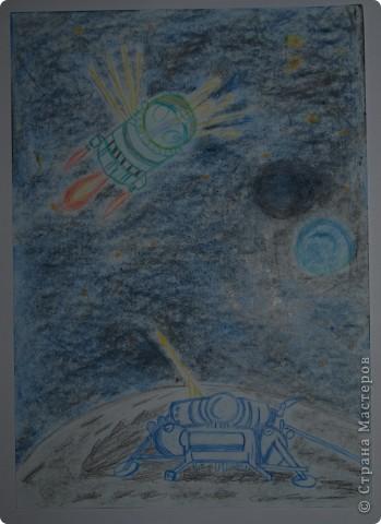 """Давали вместе с учителем музыки Дзиговской Н.К в лицее №36 открытый урок """"Космический пейзаж"""", посвященный первому полёту человека в космос. фото 8"""