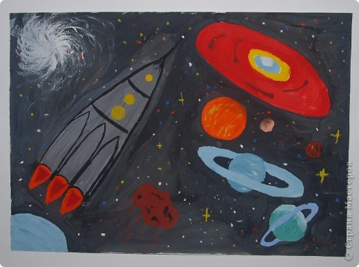 """Давали вместе с учителем музыки Дзиговской Н.К в лицее №36 открытый урок """"Космический пейзаж"""", посвященный первому полёту человека в космос. фото 11"""
