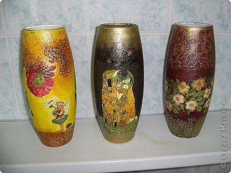 Купила в сетевом магазине стеклянные вазы по 120ре за шт. Надо украшать! фото 1