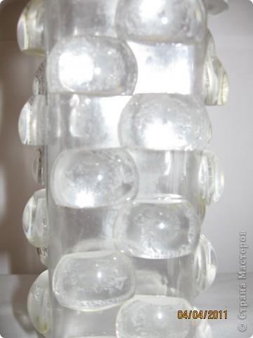 Зеркальную бутылочку я сделала, а теперь решила изготовить хрустальную. фото 2