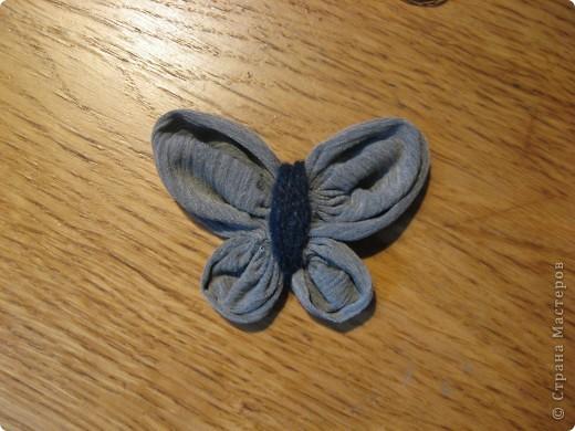 Бабочка из ткани (+ фотоМК) фото 11