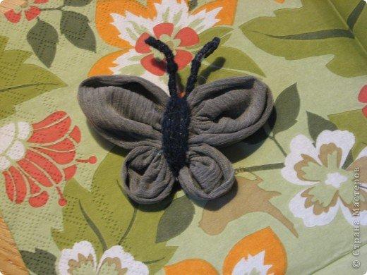 Бабочка из ткани (+ фотоМК) фото 1