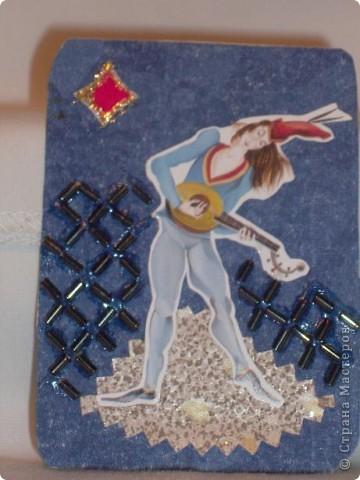 """Прочла, что АТС-ка имеет размер покерной карты. Никогда не видела покерные карты, может, они такие? Серия """"Предрассветные танцы"""". Каждая карточка - определенная масть. фото 6"""