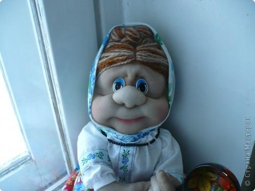 первая кукла на бутылке. Спасибо Ликме за её идеи. фото 1