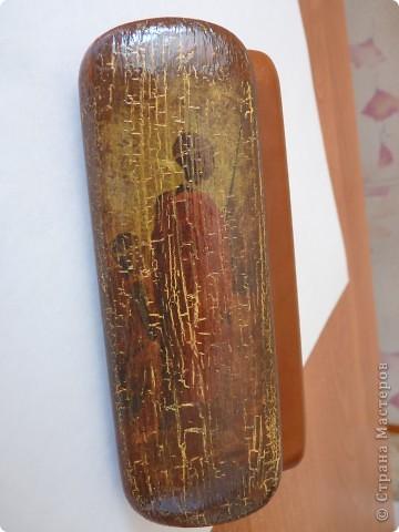Вот такой очечник у меня старенький получился....почти древний)))) фото 1