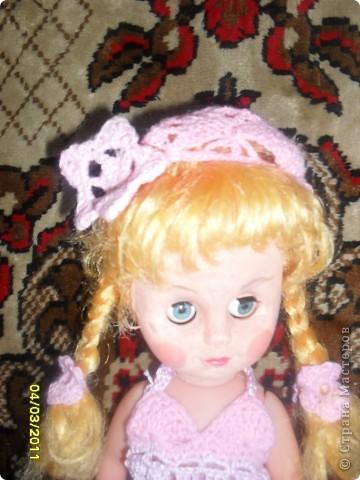 Платье, берет и туфельки для куклы фото 1