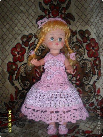 Платье, берет и туфельки для куклы фото 2