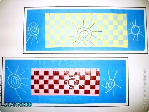 Коврик в технике плетения,,, из цветной бумаги фото 1