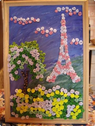 В прошлом году я была в Париже.  А забыть Париж невозможно!!! Так захотелось туда снова. Хотя бы на картине фото 1