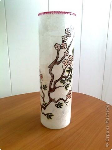 На улице весна , и у меня расцвела сакура. Это я пыталась имитировать рисовую бумагу. фото 1