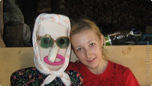 Это наша бабушка Ефросинья. Это наше первый опыт в изготовлении жителей сада. Делали мы ее с дочкой летом в деревне.  фото 2