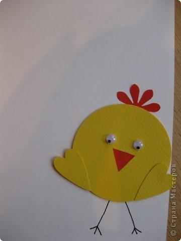 Сегодня с первоклашками делали вот такие открытки к Пасхе. Основа 1/2 листа бумаги для акварели (А4) Подложка тонированая офисная бумага Яйцо-бумага для скрапбукинга и офисная Надписи распечатка на акварельной бумаги фото 6